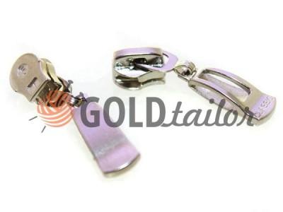 Повзунок для спіральної блискавки тип 5 оптом, нікель, Пулер Classic