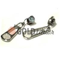 Слайдер BigPool для металлической молнии тип 3 никель