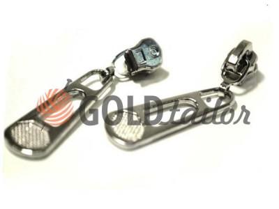 Повзунок для металевої блискавки тип 3 оптом, нікель, Пулер BigPool