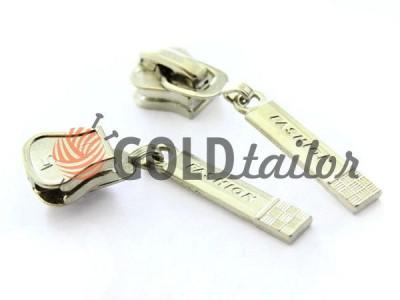 Повзунок для тракторної блискавки тип 5 оптом, колір нікель, Пулер Fashion