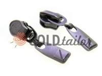 Повзунок Lock для спіральної блискавки тип 7 темний нікель