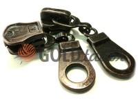 Повзунок Pear для металевої блискавки тип 8 антик