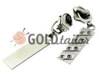 Слайдер PoolDiamant для спиральной молнии тип 5 никель