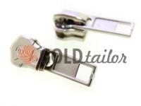 Слайдер SQUARE для металлической молнии тип 5 никель