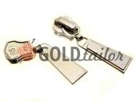 Slider Trap for metal zipper type 5 nickel