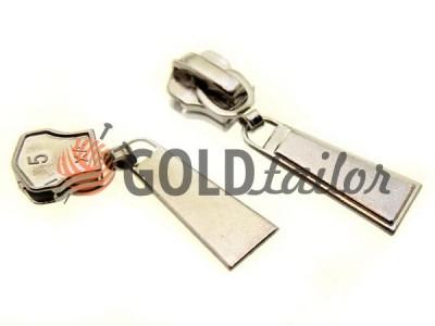 Повзунок для металевої блискавки тип 5 купити оптом, нікель, Пулер Trap