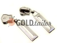 Повзунок Рамка для металевої блискавки тип 5 нікель