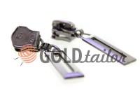 Повзунок Рамка для металевої блискавки тип 5 темний нікель