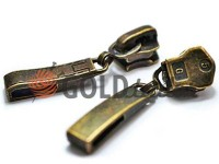 Повзунок Рядок для металевої блискавки тип 5 антик