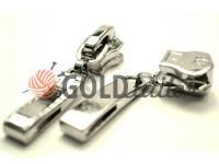 Повзунок Рядок для металевої блискавки тип 5 нікель
