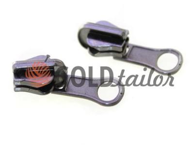Повзунок перекидний для тракторної блискавки тип 5 оптом, темний нікель