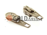 Slider standard for spiral zipper type 3 beige