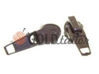 Slider standard for spiral zipper type 7 brown
