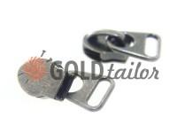 Повзунок сумочний для спіральної блискавки тип 8 темний нікель