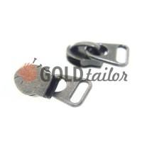 Slider bags for spiral zipper type 8 black nickel
