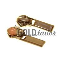 Slider Baryshevka 23 for spiral zipper type 6 type 7 brown