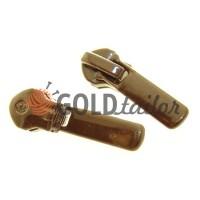 Slider Baryshevka 22 for spiral zipper type 6 type 7 brown