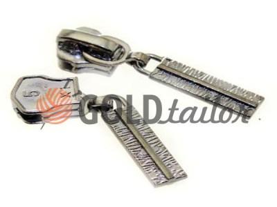Повзунок для металевої блискавки тип 5 темний нікель, Пулер кора опт