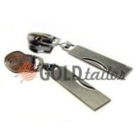 Slider Arc for spiral zipper type 7 black nickel