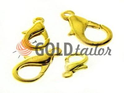 Карабін для бус і біжутерії дельфін колір золото купити від 1 шт оптом