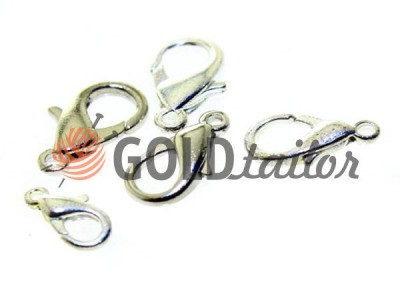 Carabiner for beads and jewelry dolphin color nickel from one piece and wholesale