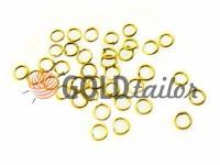 Кільце для біжутерії 5мм золото 10 шт