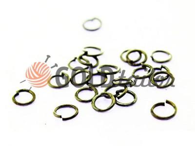 Купить оптом розницу кольцо для бижутерии 5мм цвет оксид в интернете