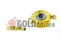 Clasp for beads with stone AB d = 12mm gold