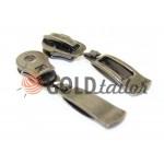 Slider Classic Spiral zipper type 5 Dark Nickel