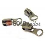 Slider under the braid 8mm Spiral zipper type 5 Dark Nickel