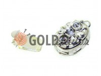 Clasp for beads with stones 3 9mm * 12mm nickel