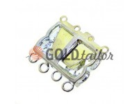 Clasp for beads with stones 3 12mm * 20mm nickel