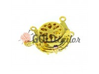 Clasp for beads with 14 stones d = 16mm gold