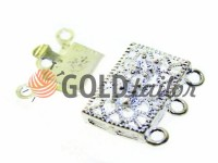 Clasp for beads with stones 3 11mm * 16mm nickel