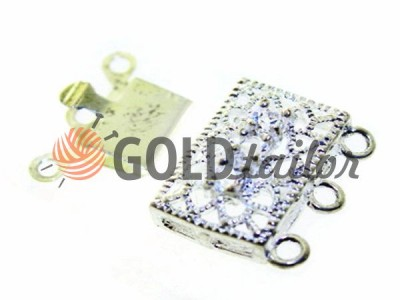 Clasp for rectangular beads with stones 3 11mm * 16mm Nickel wholesale