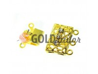 Clasp for beads with stones 3 11mm * 16mm gold