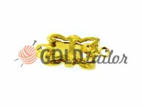Застібка для намиста Квітка з 9 камінням 10мм * 12мм золото