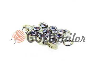 Buy beads Clasp for Flower with 9 stones 10mm * 12mm Nickel wholesale