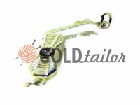 Clasp for beads with 1 stone 5mm * 12mm nickel