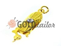 Clasp for beads with 1 stone 5mm * 12mm gold