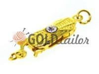 Застібка для намиста з 1 каменем 5мм * 12мм золото