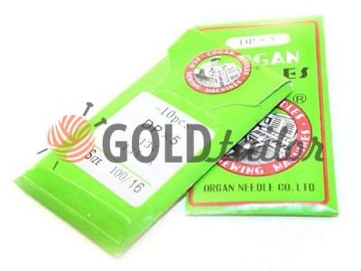 Голки промислові Organ Needles DP * 5 з товстою колбою №70 - №120 опт