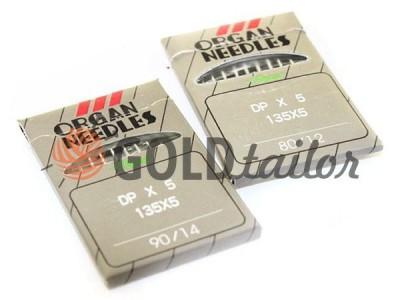 Иглы промышленные Organ Needles DP*5/135*5 с толстой колбой №70 - №110