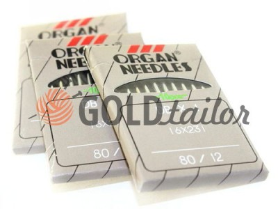 Needles, industrial Organ Needles DB * 1 with a fine bulb №70 - №110 wholesale