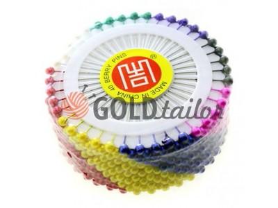 Купить Набор булавок портновских на кольце с цветными ушками 40 шт оптом
