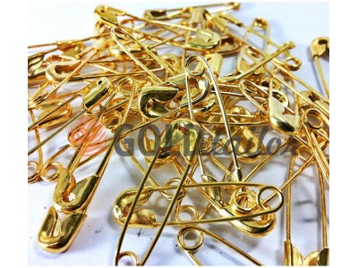 Набір шпильок англійських одного розміру золото 10шт купити оптом