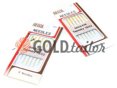 A set of professional hand needles REGAL Gold-EYE 18 / 22-300T1 buy