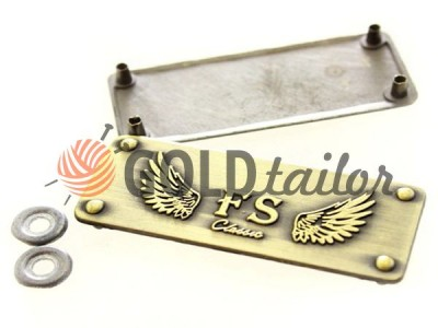 Buy metal tag FS-Classic 20mm * 50mm Antique wholesale / discord