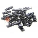 Fixator for cord d = 5mm plastic two-hole 9mm * 21mm black, 10 pcs