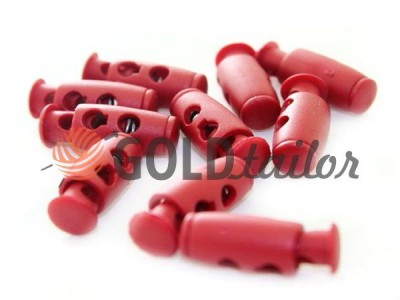 Buy retainer cord d = 4mm plastic two-hole 9mm * 21mm red